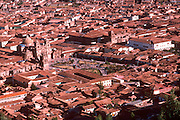 PERU, HIGHLANDS, CUZCO capital of the Incas, with Plaza de Armas