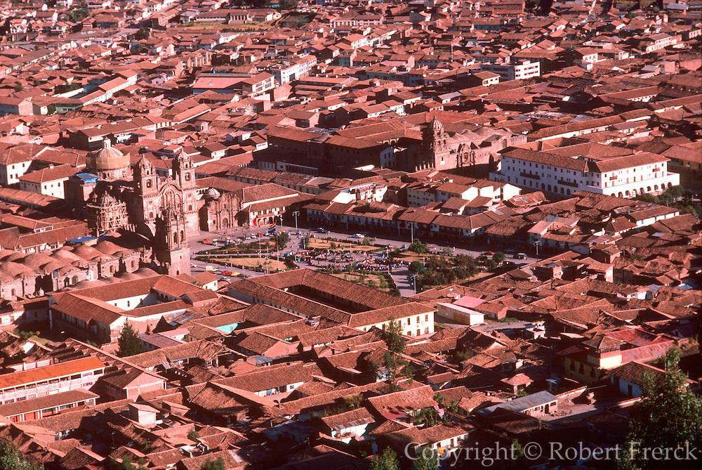 PERU, HIGHLANDS, CUZCO capital of the Incas, with Plaza de Armas