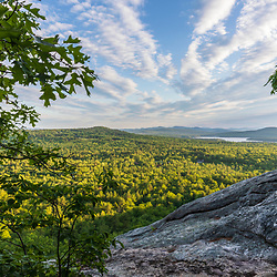 The view from Bald Pate Mountain in Bridgton, Maine.