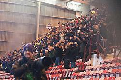 Falkirk's fans after the goal..Dunfermline 0 v 1 Falkirk, 26/12/2012..©Michael Schofield.