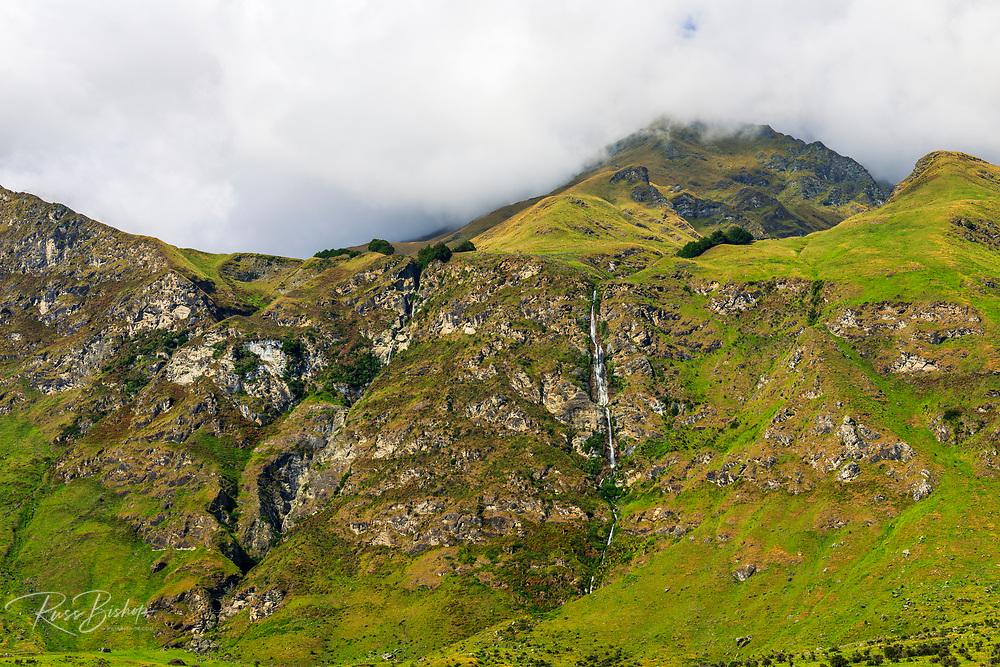 Twin Falls and Treble Cone, Wanaka, Otago, South Island, New Zealand