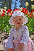 Young girl in horticultural gardens<br />Winnipeg<br />Manitoba<br />Canada