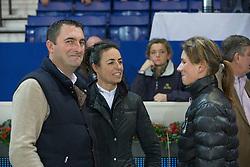 De Roock Gilbert (BEL), Cordon Pilar (ESP), Leprevost Penelope (FRA)<br /> Prijs Nekkerhal<br /> Flanders Christmas Jumping - Mechelen 2012<br /> © Dirk Caremans