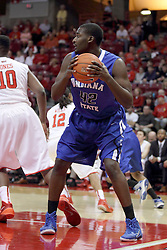 31 December 2014:  TJ Bell during an NCAA Division 1 Missouri Valley Conference (MVC) men's basketball game between the Indiana State Sycamores beat the Illinois State Redbirds 63-61 at Redbird Arena in Normal Illinois