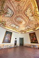 State Room of the Kings of Naples Royal Palace of Caserta, Italy. A UNESCO World Heritage Site .<br /> <br /> Visit our ITALY HISTORIC PLACES PHOTO COLLECTION for more   photos of Italy to download or buy as prints https://funkystock.photoshelter.com/gallery-collection/2b-Pictures-Images-of-Italy-Photos-of-Italian-Historic-Landmark-Sites/C0000qxA2zGFjd_k<br /> <br /> <br /> Visit our EARLY MODERN ERA HISTORICAL PLACES PHOTO COLLECTIONS for more photos to buy as wall art prints https://funkystock.photoshelter.com/gallery-collection/Modern-Era-Historic-Places-Art-Artefact-Antiquities-Picture-Images-of/C00002pOjgcLacqI