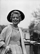20/04/1959<br /> 04/20/1959<br /> 20 April 1959<br /> Miss May O'Callaghan an actress from  Kilburn, London on the Ha'penny Bridge, Dublin.
