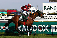 Tiger Roll and Davy Russell win the 2019 Grand National 5:15pm The Randox Health Grand National Steeple Chase (Grade 3) 4m 2f during the Grand National Meeting at Aintree, Liverpool, United Kingdom on 6 April 2019.