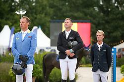 Podium Sires, Vereecke Koen, Ahlmann Christian, Thomas Gilles<br /> FEI WBFSH Jumping World Breeding Championship for Young Horses<br /> Lanaken 2021<br /> © Hippo Foto - Julien Counet<br />  24/09/2021