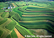 PA landscapes, contour farming, Berks Co., PA aerial Farms, Contour Plowing, Mixed Cropping