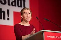 DEU, Deutschland, Germany, Berlin, 10.12.2016: Franziska Brychcy, stv. Linken-Landesvorsitzende, beim Landesparteitag von Die Linke im WISTA-Veranstaltungszentrum Adlershof.