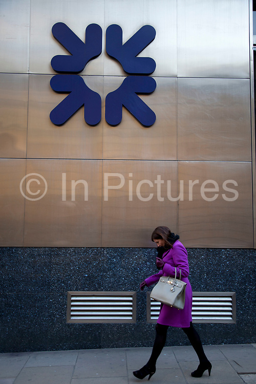 Royal Bank of Scotland main branch in Threadneedle Street in the City of London. RBS has become a symbol of the recession, credit crunch, financial failure during the economic downturn. Now 80% publicly owned the bank has again been in the news in 2012 following the appointment, then rejection of a 1m pound bonus by it's current chief executive, and the withdrawl of the nighthood of former chief executive.