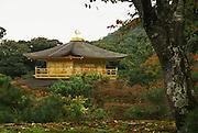 Japan, Kyoto, Zen Buddhist temple Kinkaku-ji (Temple of the Golden Pavilion), AKA Rokuon-ji (Deer Garden Temple)