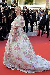 Elle Fanning during 72nd Cannes Film Festival 2019, Red carpet film Les Miserables