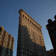 The Flatiron Building in the late afternoon sunshine. Manhattan, New York. USA. 25th November 2012. Photo Tim Clayton