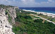 South side limestone cliffs, Cayman Brac, Cayman Islands, British West Indies,