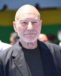 July 23, 2017 - Westwood, California, U.S. - Patrick Stewart arrives for the premiere of the film 'The Emoji Movie' at the Regency Village theater. (Credit Image: © Lisa O'Connor via ZUMA Wire)