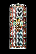 """Window 2 on plan. 22""""w x 54""""h<br /> <br /> Saint Louis appears to have been Louise Drexel Morrell's namesake.<br /> <br /> St. Edward's Convent, Bar Harbor, Maine."""