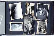 photo album with vintage family images England