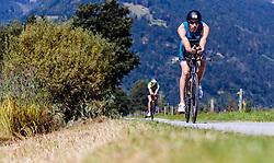 28.08.2016, Zell am See Kaprun, AUT, IRONMAN 70.3 Salzburg, im Bild Stuart Hayes (GBR) // Stuart Hayes (GBR) during IRONMAN 70.3, Salzburg at Zell am See- Kaprun, Austria on 2016/08/28. EXPA Pictures © 2016, PhotoCredit: EXPA/ JFK