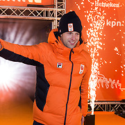 NLD/Amsterdam/20180226 - Thuiskomst TeamNL, Bob de Vries
