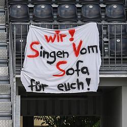 Plakat der Fans beim Spiel in der 2. Bundesliga, SV Sandhausen - Dynamo Dresden.<br /> <br /> Foto © PIX-Sportfotos *** Foto ist honorarpflichtig! *** Auf Anfrage in hoeherer Qualitaet/Aufloesung. Belegexemplar erbeten. Veroeffentlichung ausschliesslich fuer journalistisch-publizistische Zwecke. For editorial use only. For editorial use only. DFL regulations prohibit any use of photographs as image sequences and/or quasi-video.