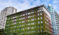 Exterior view of the iconic ivy-covered Sylvia Hotel in Vancouver, British Columbia