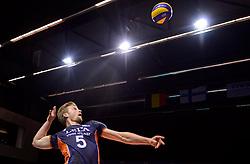20150619 NED: World League Nederland - Portugal, Groningen<br /> De Nederlandse volleyballers hebben in de World League ook hun eerste duel met Portugal met 3-0 gewonnen / Jelte Maan #5