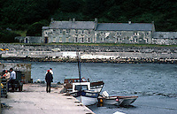 Rathlin Island, Northern Ireland, UK - the view from the harbour looking across Church Bay to the Manor House. 197809000241a..Copyright Image from Victor Patterson, 54 Dorchester Park, Belfast, United Kingdom, UK...For my Terms and Conditions of Use go to http://www.victorpatterson.com/Victor_Patterson/Terms_%26_Conditions.html