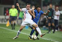 Fotball<br /> 08.09.2007<br /> EM-kvalifisering<br /> Italia v Frankrike<br /> Foto: DPPI/Digitalsport<br /> NORWAY ONLY<br /> <br /> FOOTBALL - EURO 2008 - QUALIFYING ROUND - GROUP B - ITALY v FRANCE - 08/09/2007 - FRANCK RIBERY (FRA) / GIANLUCA ZAMBROTTA (ITA)