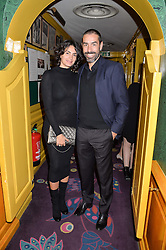 ROBERT PIRES and JESSICA LEMARIE-PIRES at the mothers2mothers 15 Years of Wonder Women at held at Annabel's, Berekely Square, London on 9th November 2016.