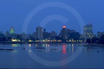 Harrisburg, PA, Skyline, Susquehanna River, Reflections