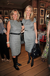 Left to right, PRINCESS CHANTAL OF HANOVER and EMMA FARAH at a lunch hosted by Roger Viver in honour of Bruno Frisoni their creative director, held at Harry's Bar, 26 South Audley Street, London on 31st March 2011.