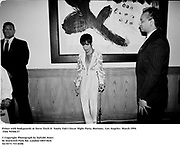 Prince with bodyguards at Steve Tisch &  Vanity Fair's Oscar Night Party,<br />Mortons,  Los Angeles. March 1994.  Film 94568/37<br /> <br />© Copyright Photograph by Dafydd Jones<br />66 Stockwell Park Rd. London SW9 0DA<br />Tel 0171 733 0108.