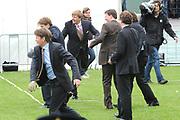 Koninginnedag 2008 / Queensday 2008. <br /> <br /> Koningin Beatrix viert Koninginnedag dit jaar in Friesland. De vorstin en haar familie bezochten op 30 april Makkum en Franeker.<br /> <br /> Queen Beatrix celebrates Queensday this year in Friesland (the Nothren provice in Holland). The Queen and its family visited Makkum and Franeker on 30 April.<br /> <br /> Op de foto/ On the Photo:  <br /> The Dutch Prince playing a local Game / De Prinsen spelen Kaatsen