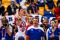 November 2, 2018 - Doha, Qatar - Artur Dalaloyan of Russia  after winning the gold at Floor for Men at the Aspire Dome in Doha, Qatar, Artistic FIG Gymnastics World Championships on 2 of November 2018. (Credit Image: © Ulrik Pedersen/NurPhoto via ZUMA Press)