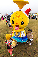 Michan Mascot - Japanese celebrate the silly, eccentric and adorable like no other country.  Its obsession with the yuru-kyara mascots is a perfect example of this.  These mascots represent products, teams, museums, schools, prisons, branches of the military, organizations  and even the national tax office.   Most towns, counties, and companies have their own yuru-kyara mascot, following this craze. Creepy or cute, they lurk around street fairs, community events, train stations and tourist destinations.  There are large Mascot Summits such as the one in Hanyu, Saitama held every year where mascots campaign and are voted on.  Mascots normally represent local culture or products. They may be created by local government or other organizations to stimulate tourism and economic development, or created by a company to build on their corporate identity. They may appear as costumed lovable characters at promotional events and festivals meant to convey affection for one's hometown or region.