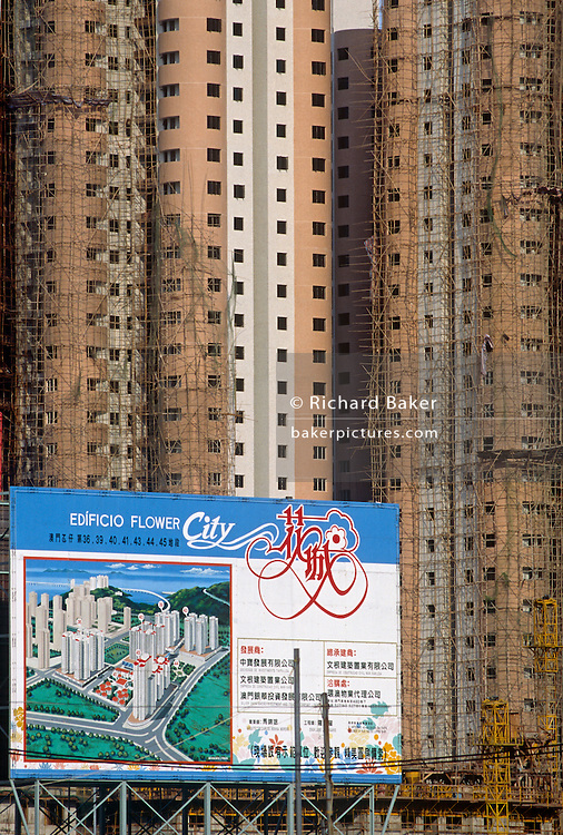 New housing development in former Portuguese colony of Macau, now part of China