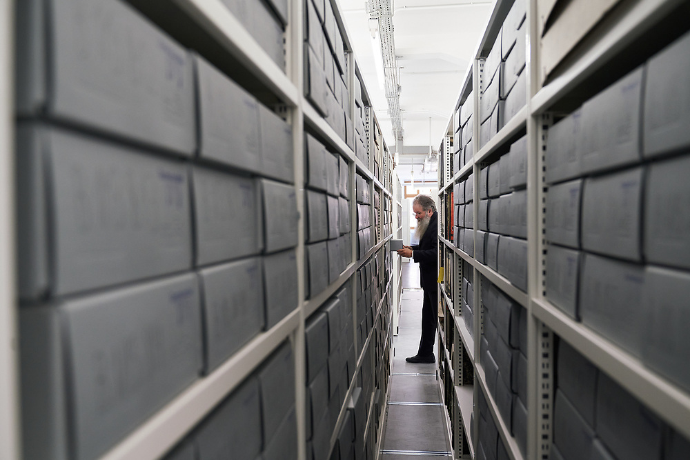 Germany, Berlin, 2021/09/14<br /> <br /> Dr. Ittai Joseph Tamari is the keeper of the Archive of the History of Jews in Germany. In his archive he collects all sorts of documents from the past 1700 years of Jewish life in Germany.<br /> <br /> (Photo by © Gregor Zielke)