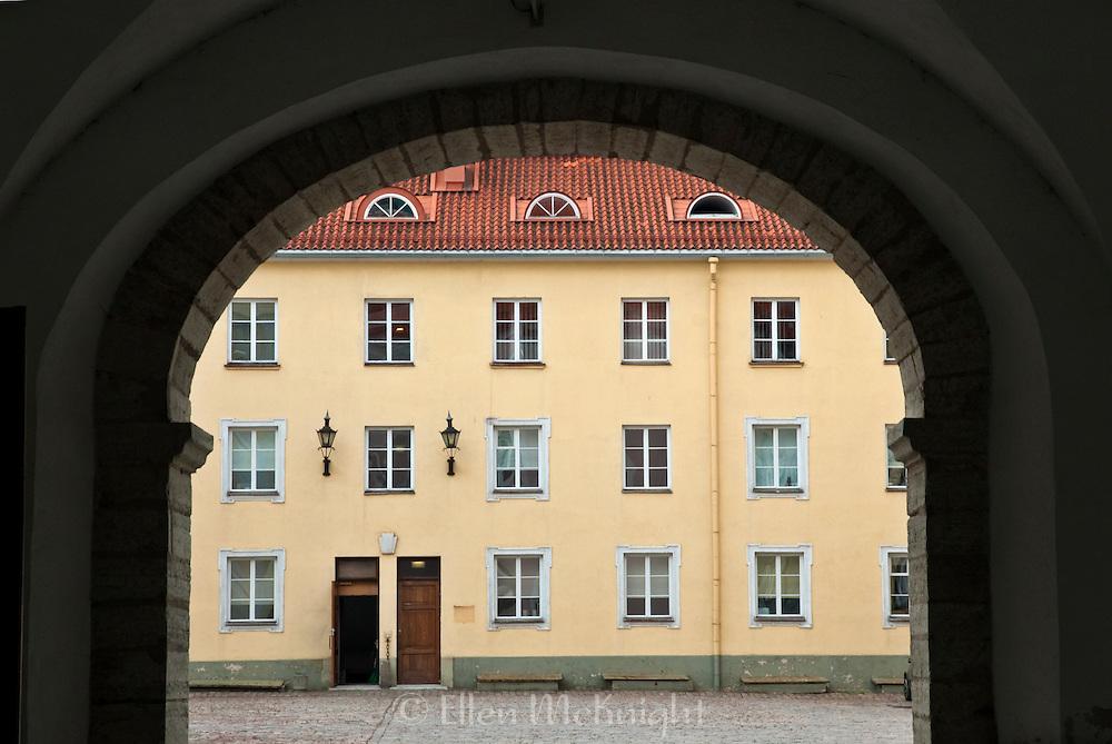 Courtyard of Parliment Building in Tallinn, Estonia