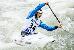 Nicolas Gestin of France competes during Canoe Single (C1) Men Final race of 2018 ICF Canoe Slalom World Cup 4, on September 1, 2018 in Tacen, Ljubljana, Slovenia. Photo by Vid Ponikvar / Sportida