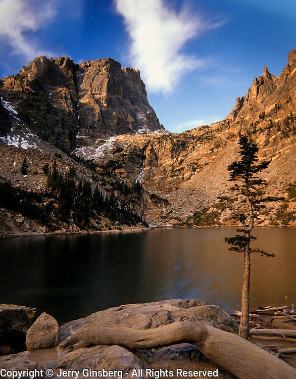 Colorado, Southwest<br /> Early morning at Emerald Lake, Rocky Mountain National Park, Colorado.
