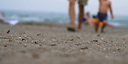 On the beach at Kamakura, Tokyo, Japan. Taken as candid, with the camera sitting on a blanket, letting autofocus make the decision...
