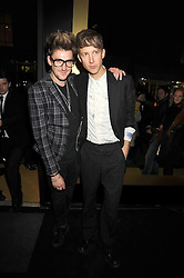 Left to right, HENRY HOLLAND and JEFFERSON HACK at the opening of the Atelier Moet pop-up boutique, 70 New Bond Street, London on 3rd December 2008.