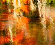Autumn reflections, Bubble Pond, Acadia National Park, Maine  1990
