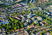 Nederland, Noord-Holland, Gemeente Purmerend, 13-06-2017; overzicht historisch centrum Purmerend.<br /> Purmerend, small city north of Amsterdam, historical market town.<br /> <br /> luchtfoto (toeslag op standard tarieven);<br /> aerial photo (additional fee required);<br /> copyright foto/photo Siebe Swart