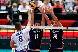 16-09-2019 NED: EC Volleyball 2019 Poland - Czech Republic, Rotterdam<br /> First round group D - Poland win 3-0 / Fabian Drzyzga #11 of Poland, Mateusz Bieniek #20 of Poland