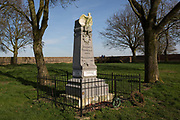 The battlefield memorial inside the walled Hougoumont Farm, to the soldiers of Napoleons Grande Armee, killed at Waterloo, on 25th March 2017, at Waterloo, Belgium. The farm became an epicentre of fighting in the Battle as it was one of the first places where British and other allied forces faced Napoleons Army. 12,000 allied troops defending 14,000 French. The Battle of Waterloo was fought on 18 June 1815. A French army under Napoleon Bonaparte was defeated by two of the armies of the Seventh Coalition: an Anglo-led Allied army under the command of the Duke of Wellington, and a Prussian army under the command of Gebhard Leberecht von Blücher, resulting in 41,000 casualties. The Battle of Waterloo was fought on 18 June 1815. A French army under Napoleon Bonaparte was defeated by two of the armies of the Seventh Coalition: an Anglo-led Allied army under the command of the Duke of Wellington, and a Prussian army under the command of Gebhard Leberecht von Blücher, resulting in 41,000 casualties.
