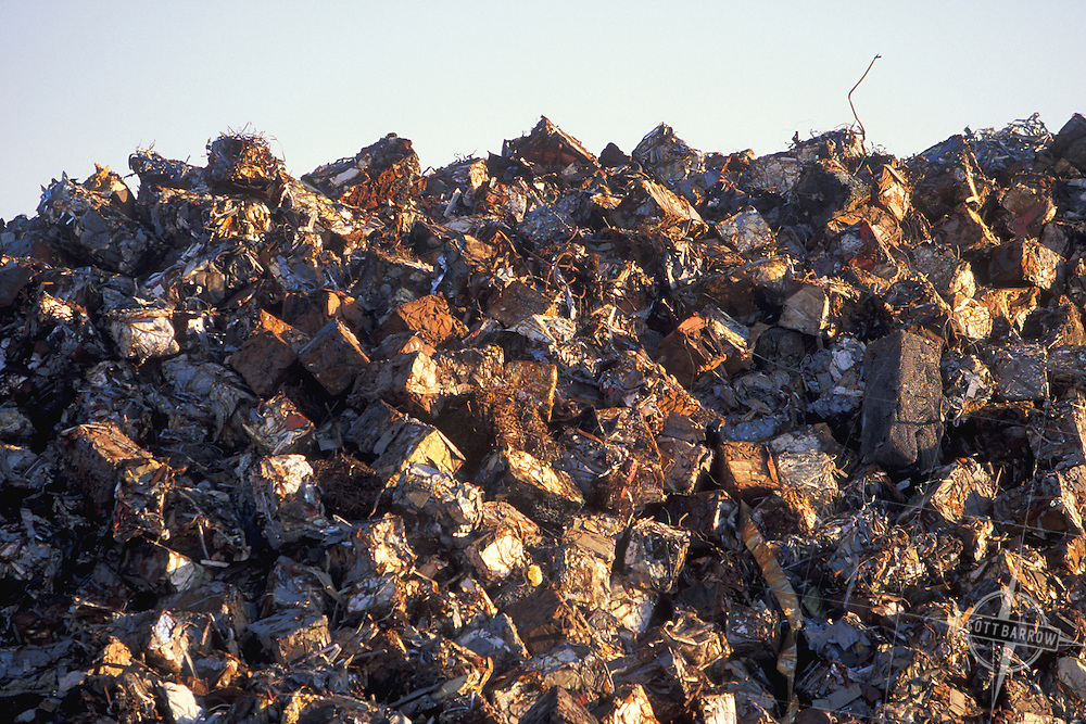 Baled, Compressed Scrap Metal for Recycling