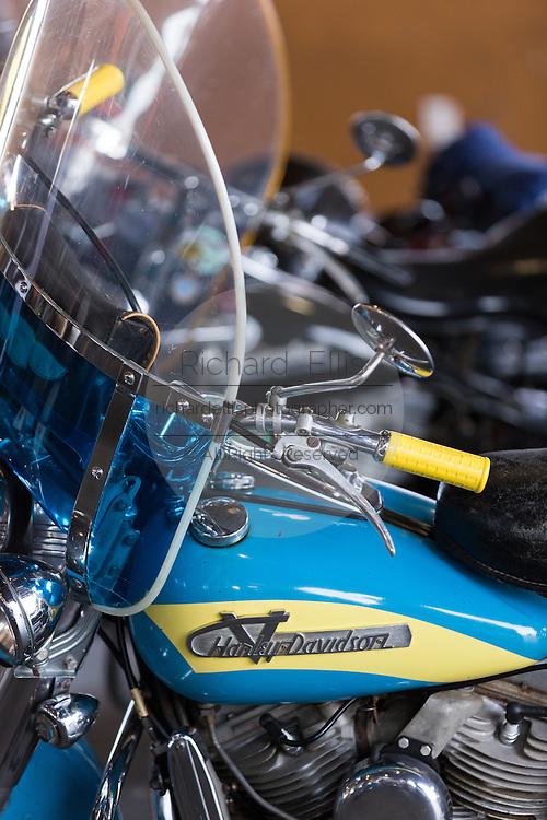 Vintage Harley- Davidson motorbike on display at the annual Bike Week in Daytona Beach, Florida.