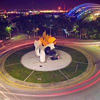 """A second look at the """"exploding chicken"""" sculpture, Channelside Drive, Tampa, Fla."""